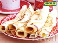 Коледни палачинки с канела и конфитюр от червени боровинки